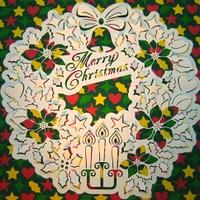 クリスマスリースとキャンドル