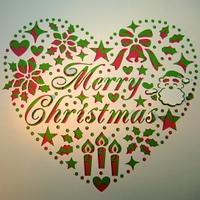 クリスマスとハート
