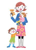 お母さんと子供たち テディペア