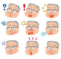 表 情 高齢者 男性