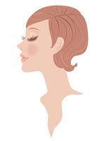 女性の顔 横顔