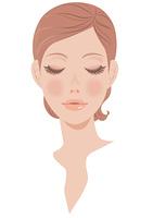 女性の顔 正面