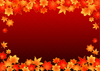 和風な舞い散る紅葉