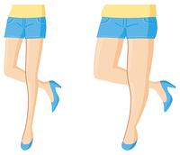 細い脚の女性 太い脚の女性