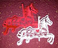 赤白回転木馬バック赤色
