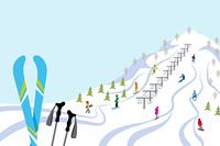 スキー場/スキー板/青