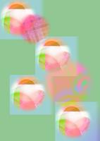 CG/ハートのアート スタンプ風