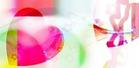 CG/花とガラスとハート