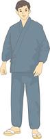 作務衣の男