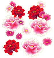 和風な牡丹の花