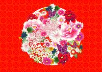 和風な花柄の背景
