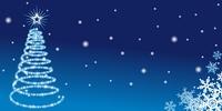 クリスマス/イルミネーション/青
