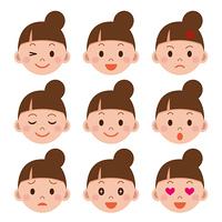 女性の表情セット
