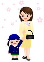 幼稚園 式 女の子 ママ