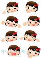 女の子 表情