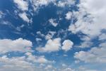 東京の青空と雲