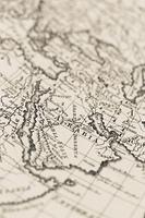 古い世界地図 アラビア半島