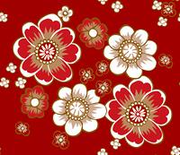 和風の花柄パターン