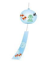 金魚模様の風鈴