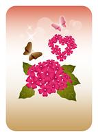 花てまりと蝶