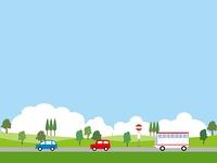 空と自動車