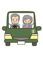 高齢夫婦のドライブ