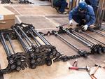 エスカレーターの解体修理