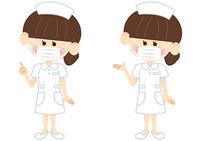 マスクをする看護師