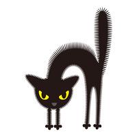 おこる黒猫 ハロウィン