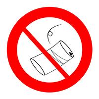 禁止マーク 空き缶