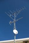 屋根のテレビアンテナ
