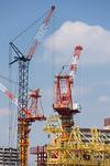 ビル建設のクレーン