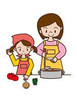 お母さんと子供の料理