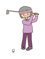 高齢女性のゴルフ