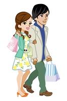 カップル ショッピング 春服