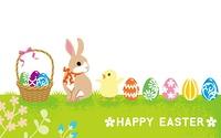 ウサギとヒヨコ イースターカード