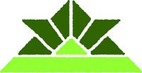 折り紙の兜(緑)