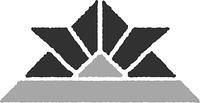 折り紙の兜(白黒)