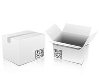 白い段ボール箱