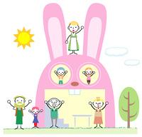 ウサギの形をした家
