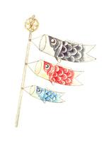鯉のぼり(水彩)