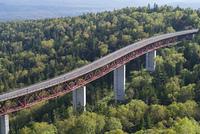 北海道三国峠の松見大橋