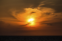 積丹半島の夕日