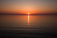 知床斜里町沖の夕日