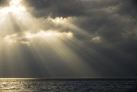 北海道せたな町の海と光芒