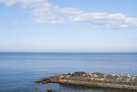 函館市の海と防波堤