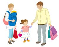 家族 買い物客