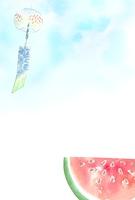 風鈴とスイカ