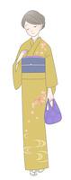 和服の女性 秋のイメージ