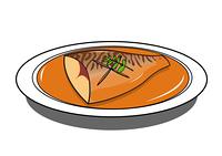 鯖の味噌煮を食べる猫